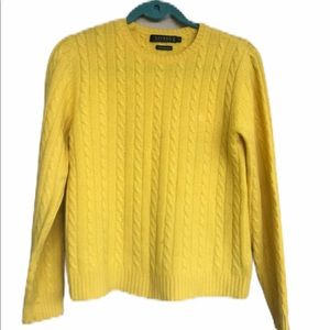 Lauren Cashmere cable knit sweater
